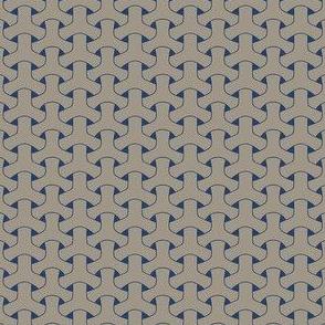 Triple Weave Small - Medium Grey on Dark Blue