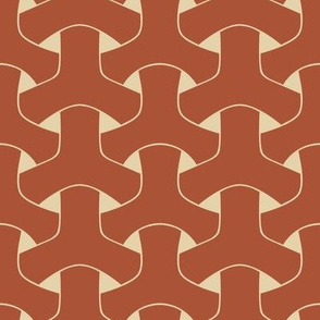 Triple Weave Large - Rust on Tan