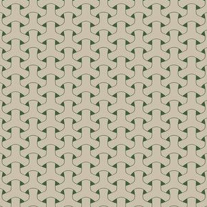 Triple Weave Small - Light Grey on Green