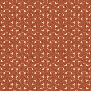 Triple Weave Small - Rust on Tan