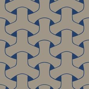 Triple Weave Large - Med Grey on Dark Blue