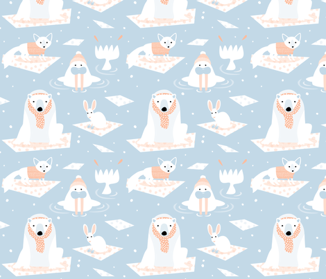 Ice Friends by Mount Vic and Me fabric by mountvicandme on Spoonflower - custom fabric