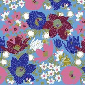 Arctic Flowers (boy blue)