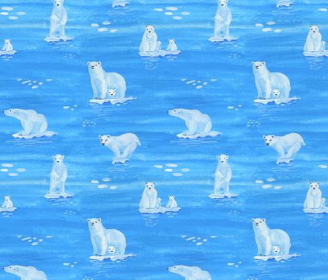polar bears  fabric by ghouk on Spoonflower - custom fabric
