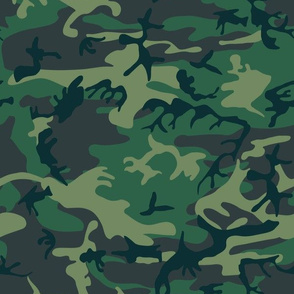 US Woodland Camo // Dark