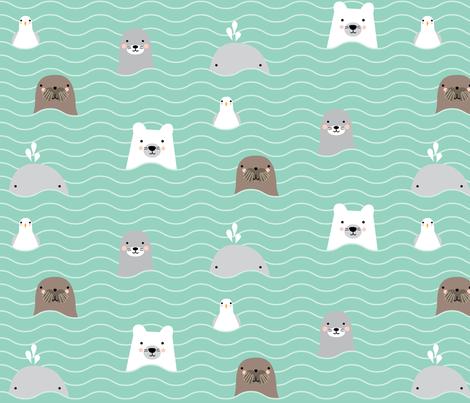 Arctic friends fabric by oohoo on Spoonflower - custom fabric
