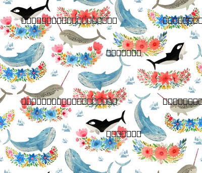arctic whales florals