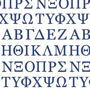 Greek Letters // Blue