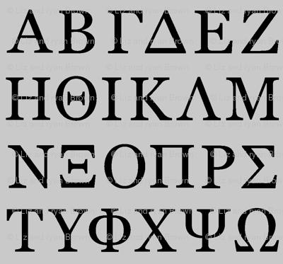Greek Letters // Silver