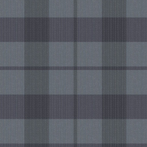 blue grey plaid textured