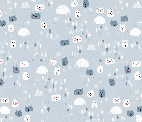 Arctic Bears fabric by polita on Spoonflower - custom fabric