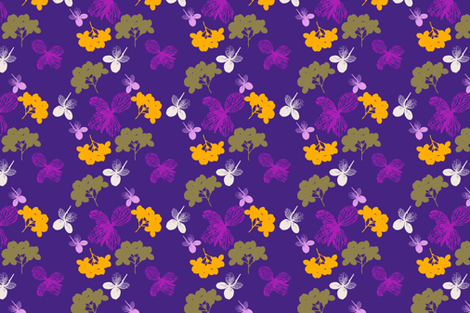 Ultra Violet Hortensia  fabric by freudenwerkstatt on Spoonflower - custom fabric