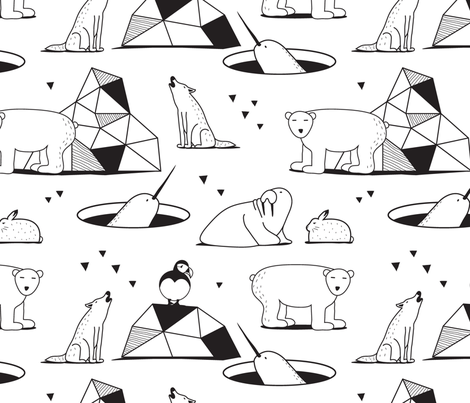 arctic friends fabric by nanamira on Spoonflower - custom fabric