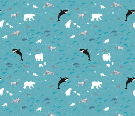 wildarctic fabric by kasumi_design on Spoonflower - custom fabric