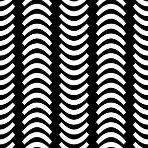 Abstract Wave Monochrome Horizontal Seamless Pattern | Fourth Version of Wavsha