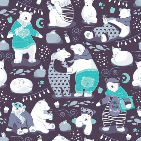 Arctic bear pajamas party fabric by selmacardoso on Spoonflower - custom fabric