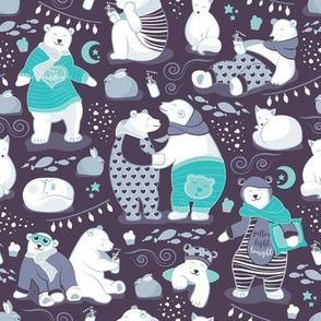 Arctic bear pajamas party