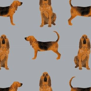 bloodhound dog breed fabric dog lover pet friendly grey