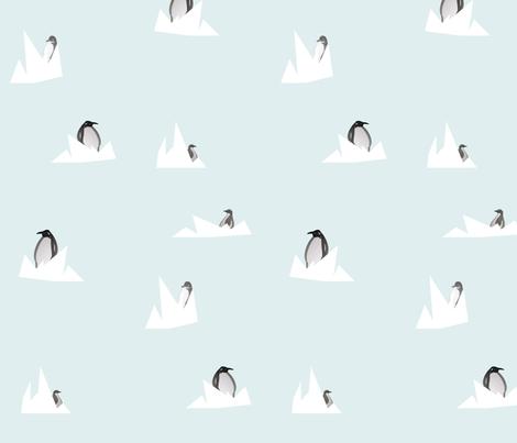 pinguin fabric by marije_blijmaker on Spoonflower - custom fabric
