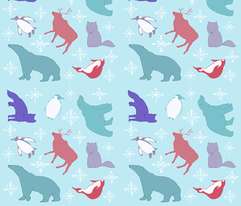 Polar Pals fabric by sharongayhart on Spoonflower - custom fabric