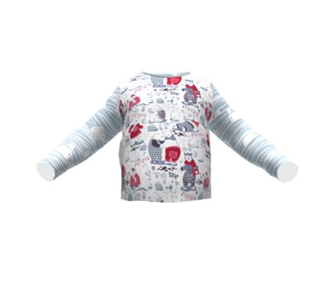 Arctic bear pajamas party V // white background red pajamas