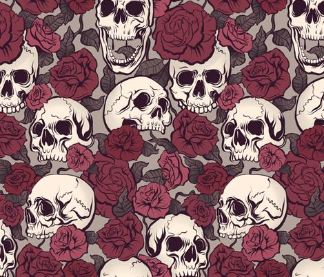 Rock-n-Rose fabric by torysevas on Spoonflower - custom fabric