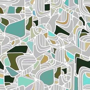 Modern Mosaic Tidewater aqua