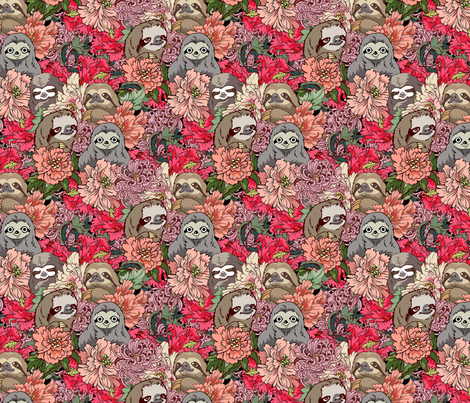 Because Sloth fabric by huebucket on Spoonflower - custom fabric