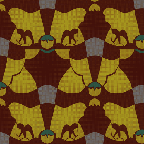 Greatest Show (Maroon) fabric by david_kent_collections on Spoonflower - custom fabric