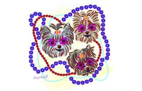 Mardi Gras - Fat Tuesday- Sugar Skulls fabric by sherry-savannah on Spoonflower - custom fabric