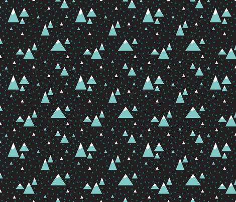 Triangle Mountains Night (Daffy) fabric by brendazapotosky on Spoonflower - custom fabric