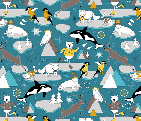 Arctic Animals fabric by vannina on Spoonflower - custom fabric