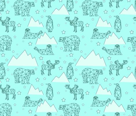 arctic_animals fabric by katja_scheube on Spoonflower - custom fabric