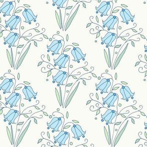 Bluebell Floral, Cream