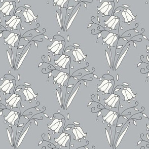 Bluebell Floral, Grey
