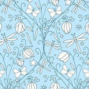 Fairy Lanterns & Dragonflies, Blue
