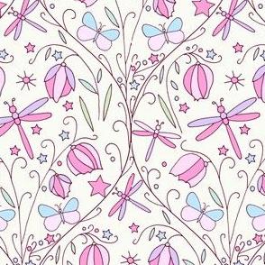 Fairy Lanterns & Dragonflies, Vintage Pink