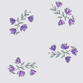 Flowering Heather, Grey