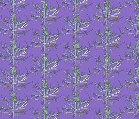 Scottish Garden Thistle, Purple fabric by de-ann_black on Spoonflower - custom fabric