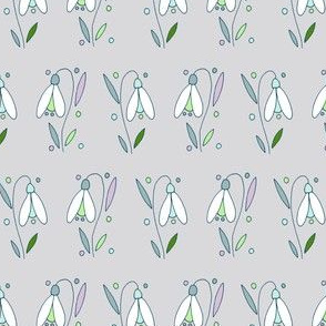 Scottish Snowdrops, Grey