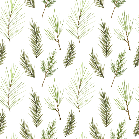 Holiday Pines fabric by mintpeony on Spoonflower - custom fabric