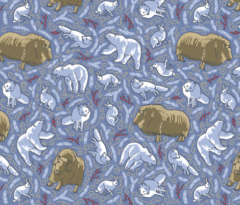 arctic_variation fabric by moyra on Spoonflower - custom fabric