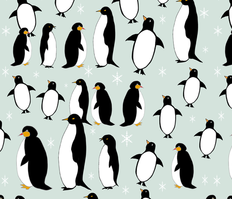 Penguinsin the Arctic fabric by maredesigns on Spoonflower - custom fabric