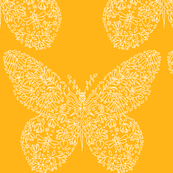 Flower Hunter Butterfly - Sunflower Gold