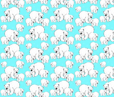 Polar Bear fabric by soft_summer_rain on Spoonflower - custom fabric