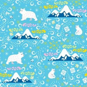 CY. The arctic animals challenge. Mom and baby polar bears