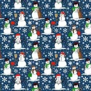 snow folk  8x8
