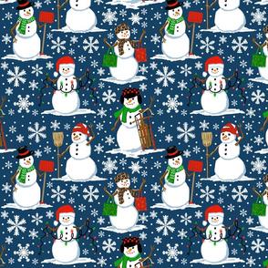 snow folk  10x10
