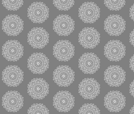 snowflake medallion fabric by farreystudio on Spoonflower - custom fabric