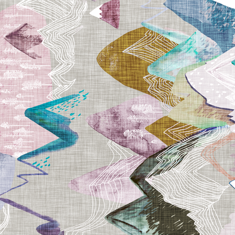 Call of the mountains (pastel) rotated fabric by nouveau_bohemian on Spoonflower - custom fabric